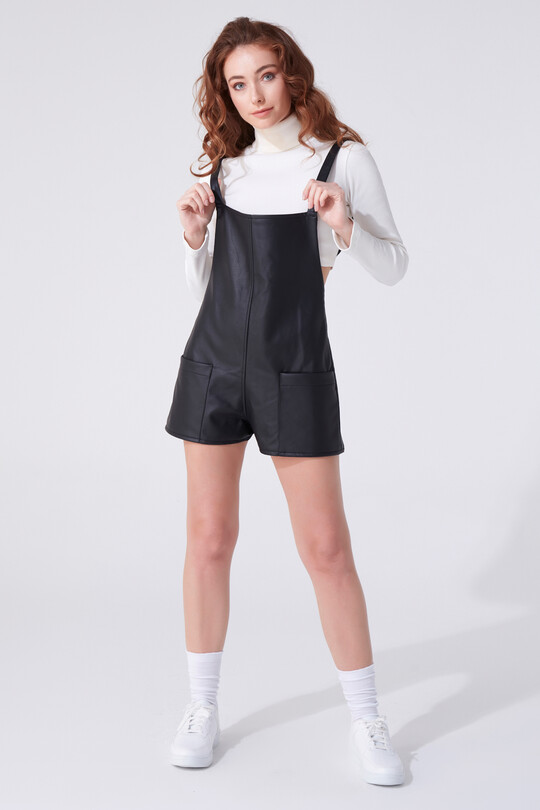 ADJUSTABLE HANGING LEATHER OVERALL