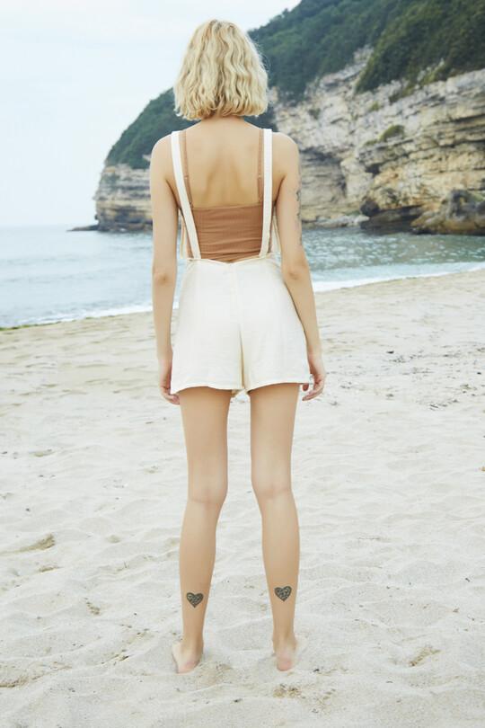 Adjustable Strap Jumpsuit-CREAM