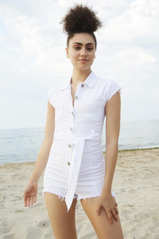 Berfuğ Kıran - Belt Jeans Jumpsuit (1)