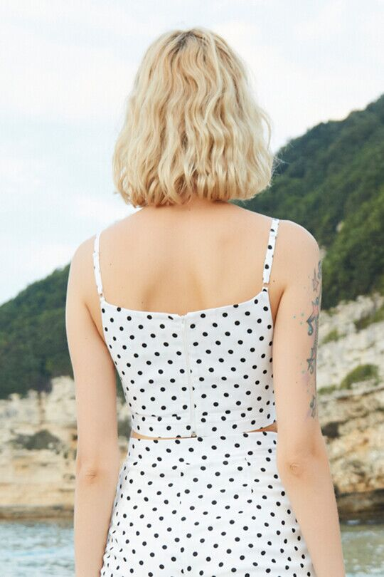 CHEST BINDED STRAP CROP TOP