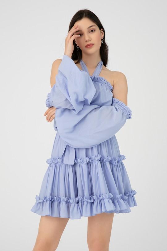 DRESS WITH ELASTIC WAIST