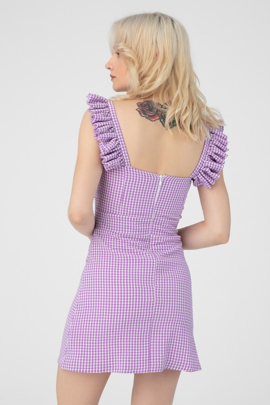 FRILLED SLEEVES WITH TIE CHEST PITIKARE DRESS