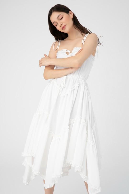 LONG DRESS WITH SHIRT WAIST