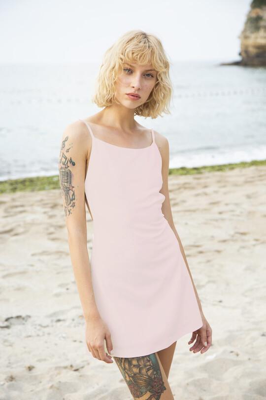 Low-cut Back Thin Strap Dress-PUDRA