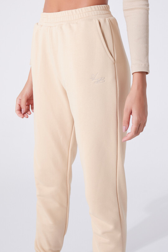 HIGH WAIST TROUSERS WITH RUBBER ANKLES