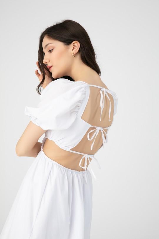 OPEN SIDE BACK BACK DRESS