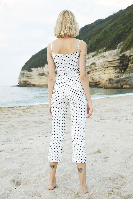 Berfuğ Kıran - Polka dot short trotting trousers-black (1)