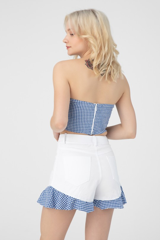 RIBBON DETAILED FRONT WITH TIRE BACK HANDLE CROP