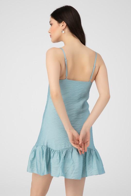 RUFFLED HANGING SALAS SHORT DRESS