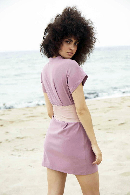 Short Sleeves Sports dress-dried rose