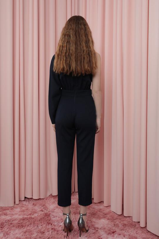 Single Sleeve Cigarette Pants Overall