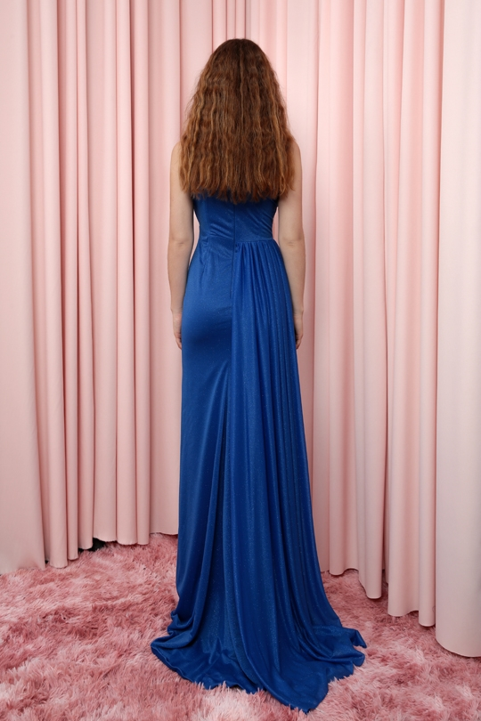 SINGLE SHOULDER TRIANGLE BUST DECOLLED DRESS