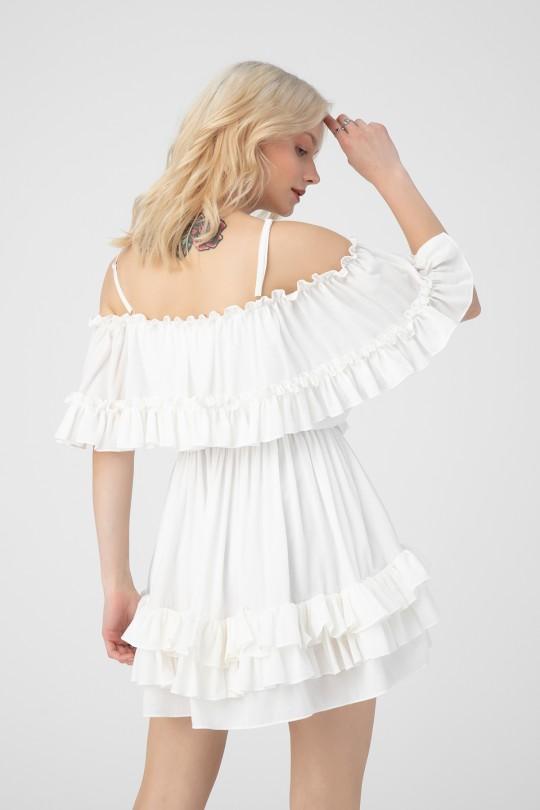 STRAPPED WAIST DRESS WITH DRESS