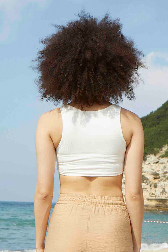 Thin Strap Crop - ECRU
