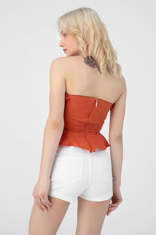 TIRED BACK FRONT LINING BUSTIER