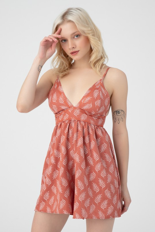TRIANGLE BUST JUMPSUIT WITH SHORTS