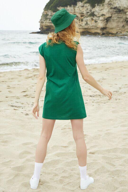 Wadded Sport Dress-GREEN