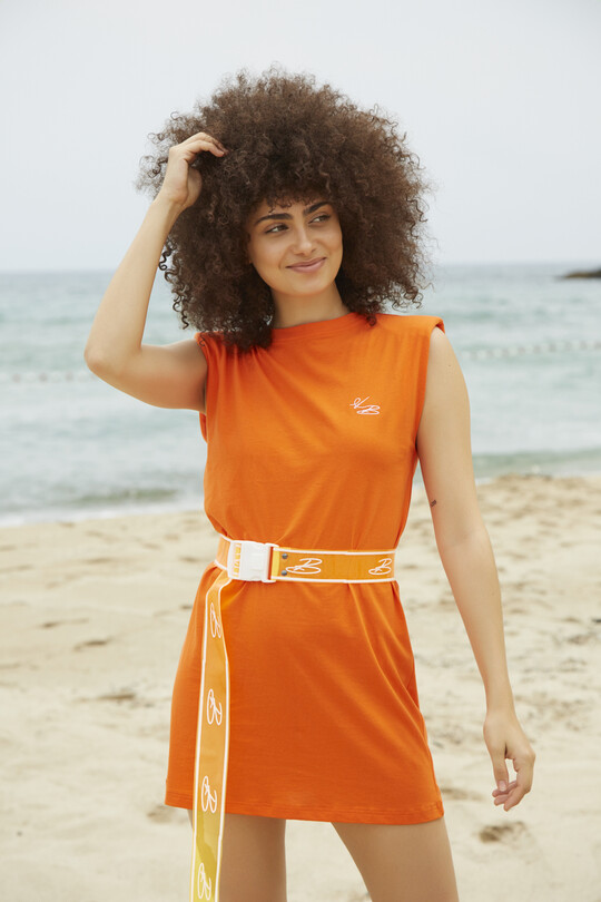 BERFUĞ KIRAN - Wadded Sport Dress-ORANGE (1)