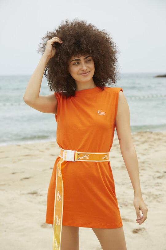 Berfuğ Kıran - Wadded Sport Dress-ORANGE (1)