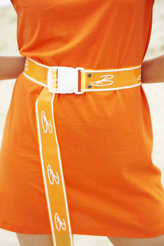 BERFUĞ KIRAN - Women's Transparent Logo Belt (1)