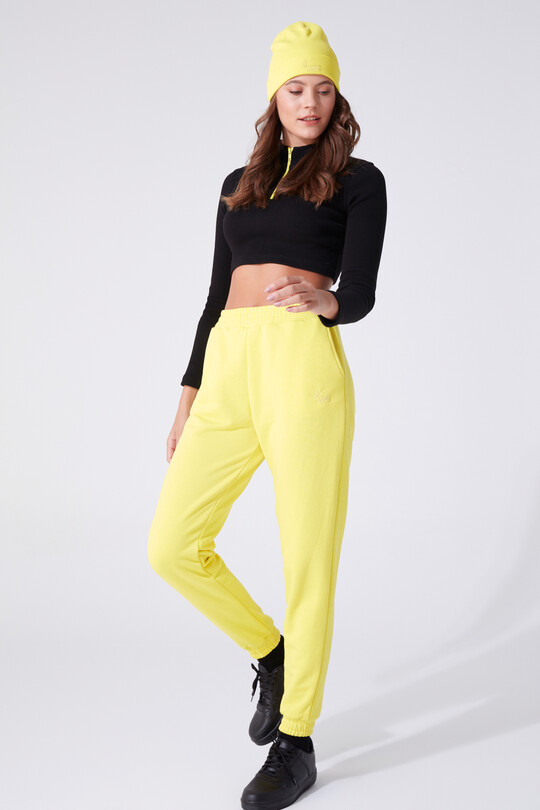 BERFUĞ KIRAN - HIGH WAIST TROUSERS WITH RUBBER ANKLES